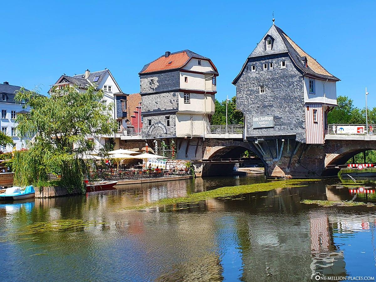 Bad Kreuznach, Brückenhäuser, Nahebrücke, Sehenswürdigkeiten, Altstadt, Reisebericht, Rheinland-Pfalz, Deutschland, Blog