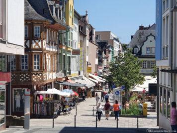 Die Einkaufsstrasse in Bad Kreuznach