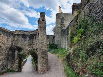 The ruins of Metternich Castle
