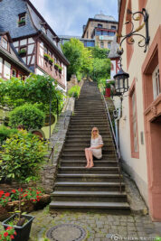 The monastery staircase in Beilstein