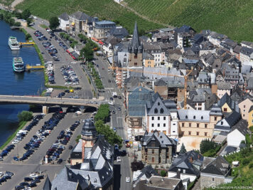 Blick auf den Stadtteil Bernkastel