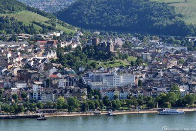 View of Bingen and Klopp Castle