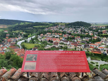 View from the castle to Harburg