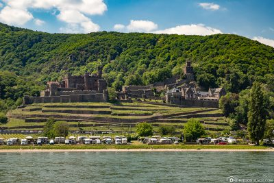 View of Reichenstein Castle and the Rhine