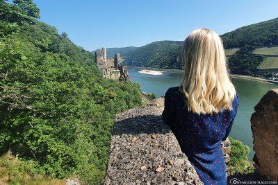 View of Rheinstein Castle & the Upper Middle Rhine Valley