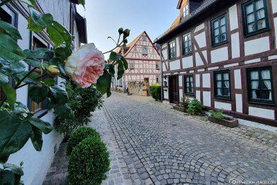 The alleys in Eltville am Rhein
