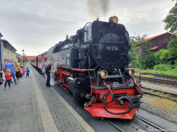 The steam locomotive of the Brockenbahn