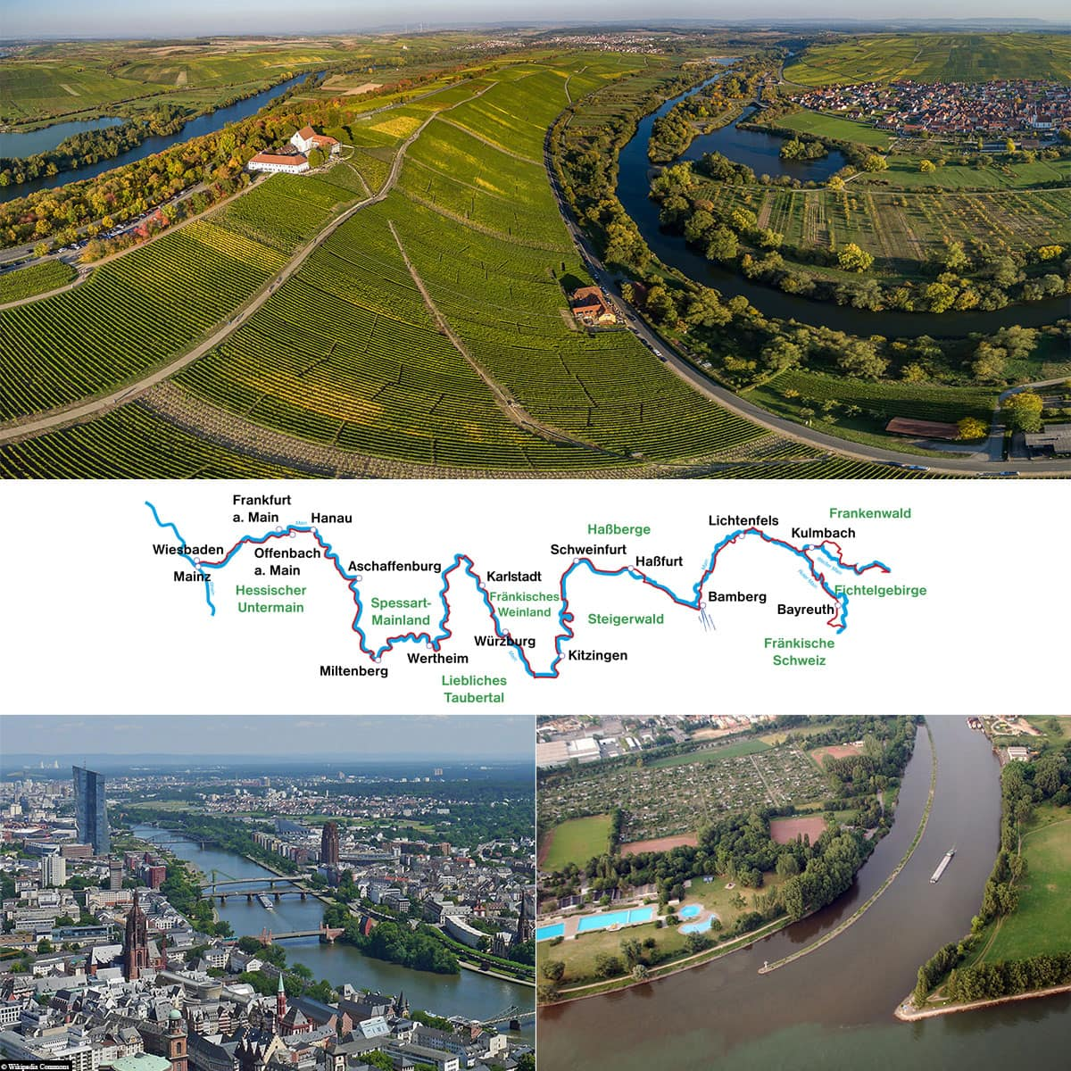 Main, History, Route, Map, River, Germany