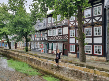 Half-timbered houses on the river Abzucht