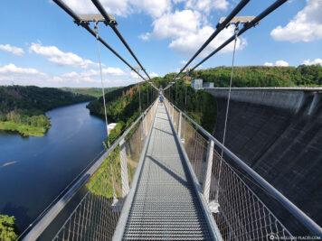 Suspension rope bridge & dam
