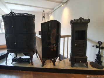 Exhibition Iron art casting and furnace plates