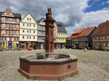 Market square with fountain