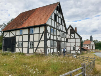 Half-timbered houses in Hessenpark