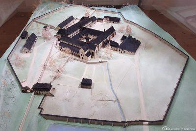 Miniature of the monastery Eberbach