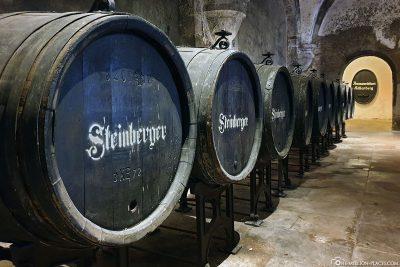 Wine barrels in Eberbach Abbey