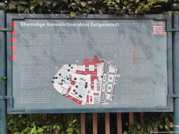 Ein Plan vom Kloster Seligenstadt