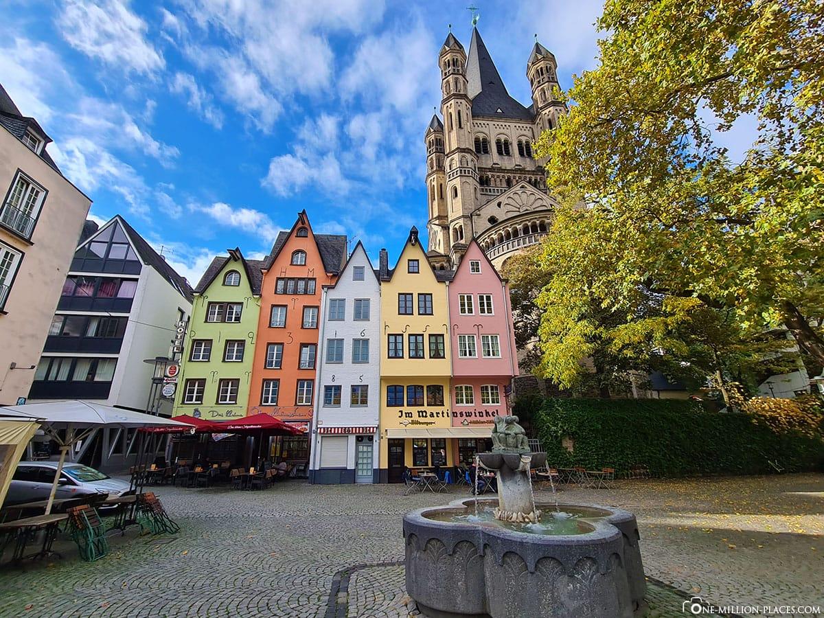 Fischmarkt, Köln, Bunte Häuser, Kath. Kirche Groß St. Martin, Sehenswürdigkeiten, Fotospot, Reisebericht