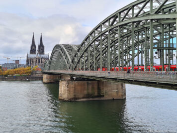 The Hohenzollern Bridge & the Cathedral