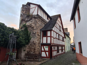 Half-timbered house on the city wall