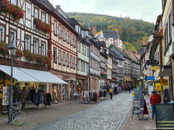 The main road in Miltenberg