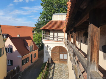 The medieval city wall