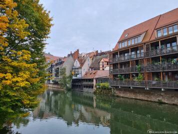 Häuser entlang der Pegnitz