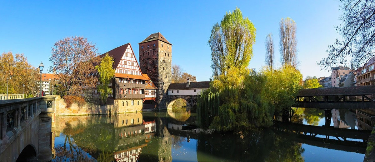 Weinstadel, Henkersteg & Wasserturm, Pegnitz, Nürnberg, Sehenswürdigkeiten
