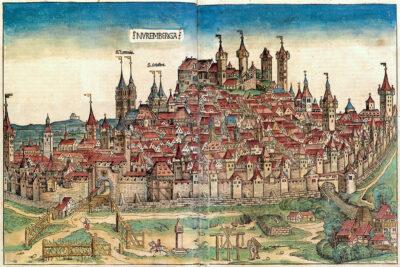 Historische Zeichnung von Nürnberg