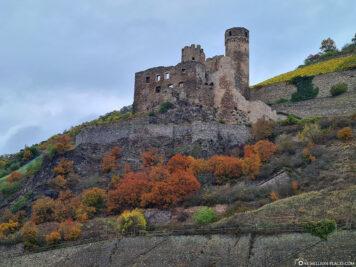 The ruins of Ehrenfels Castle
