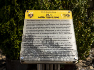 Infotafel zum Münzenberg
