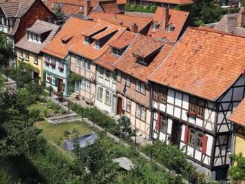 Die Fachwerkhäuser am Schlossberg