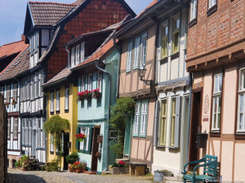 Colourful half-timbered houses