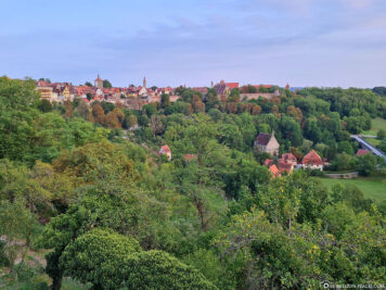 View from the castle garden to Rothenburg