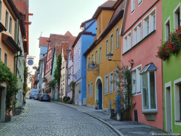 The colourful Wenggasse