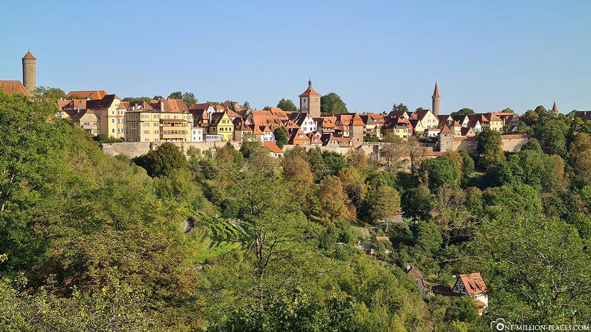 Rothenburg ob der Tauber, View, Panorama, City Wall, Tower Trail, Travelreport, Bavaria, Germany, Blog
