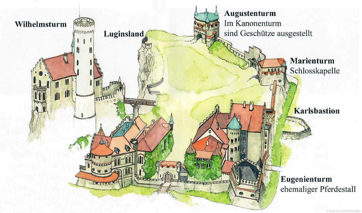 Lichtenstein Castle, Map, Plan, Travelreport, Location, Information, Blog