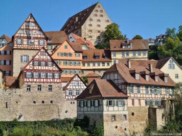 View of the old town of Schwäbisch Hall