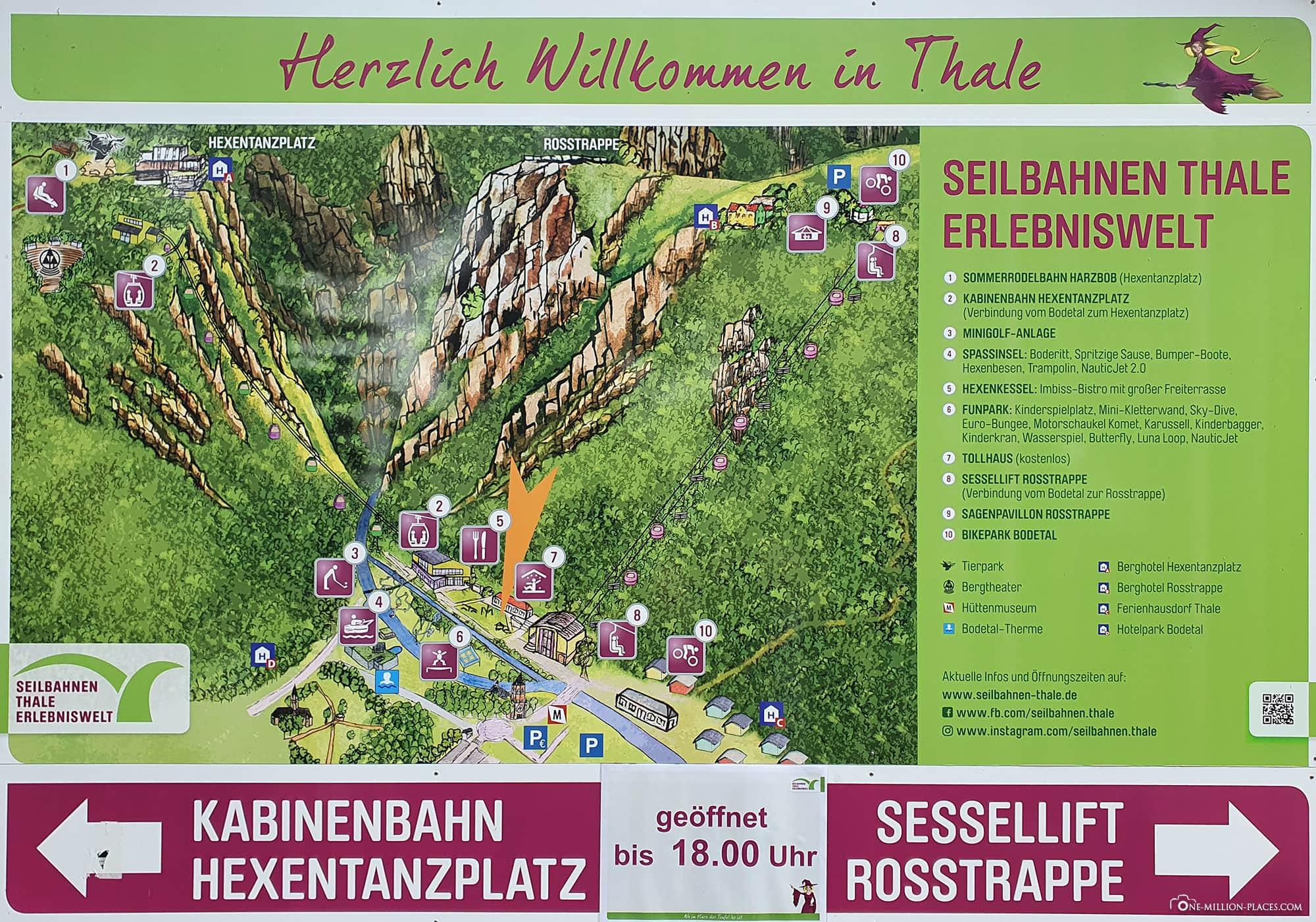 Map, Plan, Adventure World Thale, Bodetal, Travelreport, Saxony-Anhalt, Germany, Blog