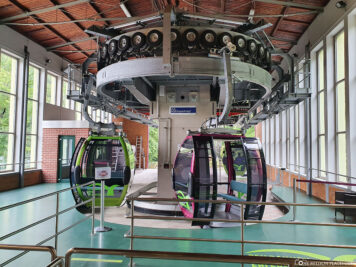 Valley station of the cable car