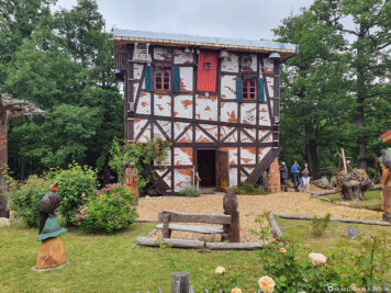 Upside-down witch's house