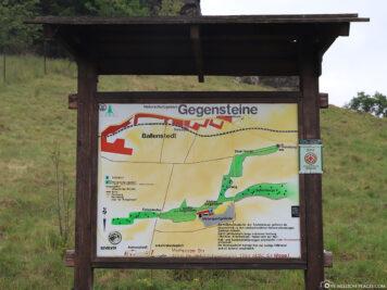 Karte der Gegensteine in Ballenstedt