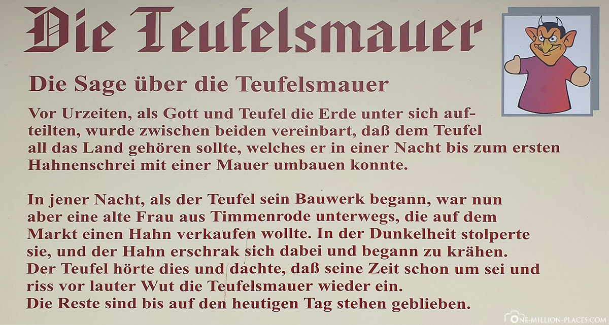Teufelsmauer, Sage, Geschichte, Harz, Reisebericht, Deutschland