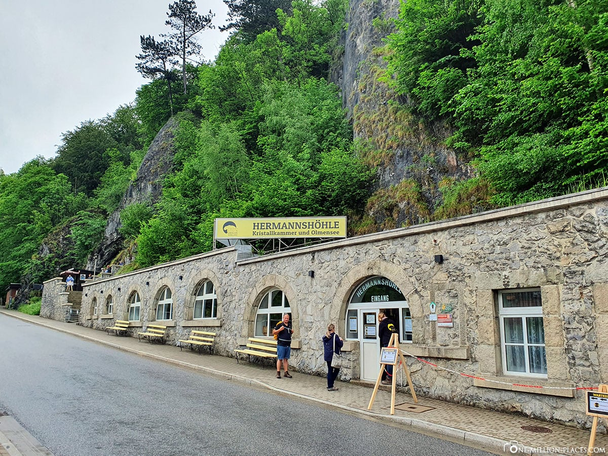 Hermannshöhle, Entrance, stalactite cave, travel ointment