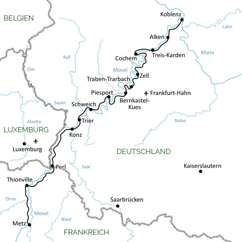 Moselle, history, map, Germany, France, Luxembourg, travel ointity