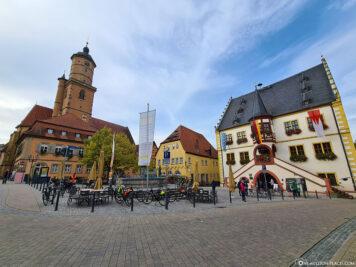 Der Marktplatz in Volkach