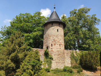 City wall tower and moat