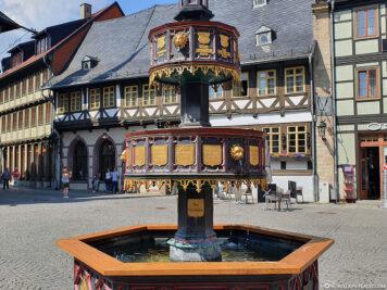 Pretty decorated benefactor fountain