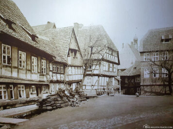 Historical photo of the Leaning House