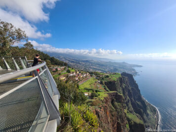 The view of the south coast of Madeira