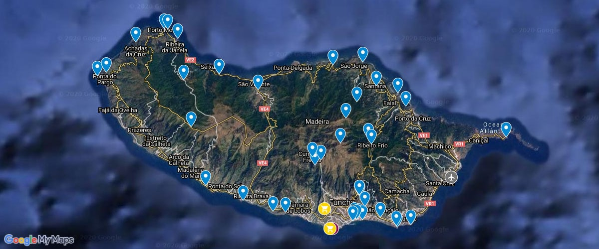 Madeira, Map, Attractions, Attractions, Photospots, Map